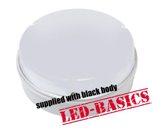 LED-Basics, Ceiling Light, Maximo 14W 2D LED Flush, Black body, Opal Cover